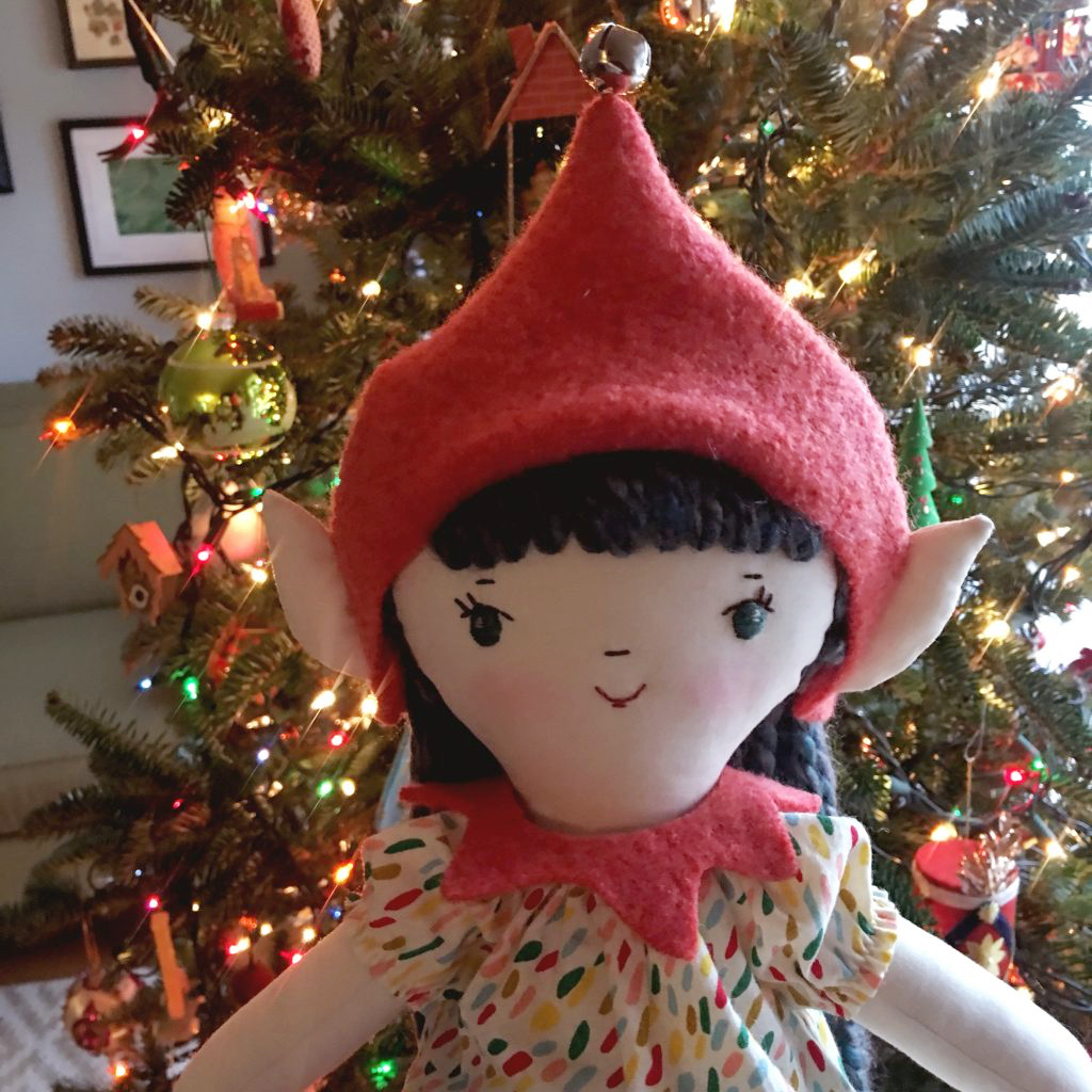 elf hat for Make-Along doll