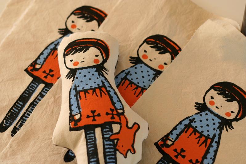 screenprinted dolls