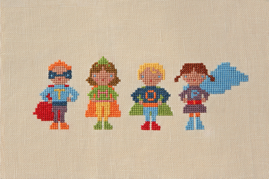 superhero cross stitch pattern